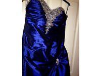 Prom Dress / Bridesmaid Dress - Deep Sapphire Blue - Simply Stunning - Cost New £395