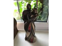 Genesis Bronze statue of Couple and Baby