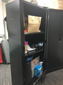 One Lockable cabinet with roll back doors, ideal for IT Equipment