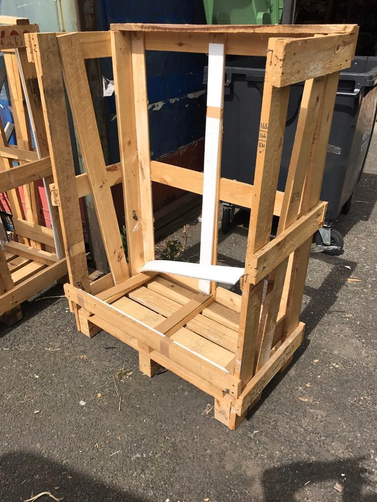 Large wooden pallets, ideal to make into log store FREE