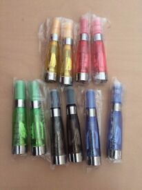 10 x COLOUR ATOMISER CLEAROMISER E CIG TANK VAPOUR PEN