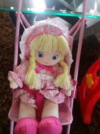 Dolls buggy and baby doll