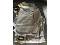 Snickers colltwill hose grey trousers 30 waist 30 leg brand new with tags