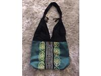 New - Ethnic design shoulder bag with hand stitched detail