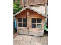 Child's wooden play house