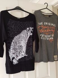 2 stunning tops size UK 14 & M/L Pennbury £2 for both!