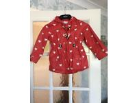 Red lightweight coat size 5-6 years
