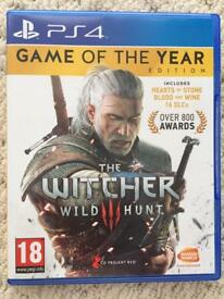 The Witcher 3 - Game of the Year - PS4 - Immaculate Condition