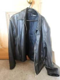 Sarah Coggles unisex leather jacket