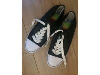 Black and white lace up canvas shoes from next size 5