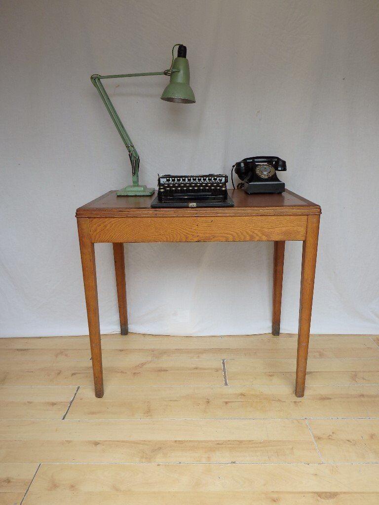 Terrific 1950S Small Vintage Oak Ministry Library Table Desk School Type In Croydon London Gumtree Download Free Architecture Designs Scobabritishbridgeorg