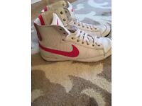 Ladies size 6 Nike high tops