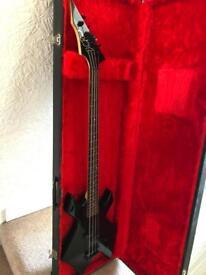 BC Rich Warlock Bass Guitar with hard case