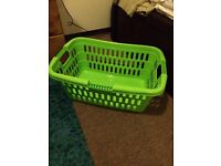 laundry basket (green) - only 1 year old!