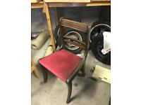 Old dining chair solid wood