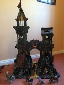 Medieval Castle and lots of fantasy figures and Viking soldiers , fantastic condition!