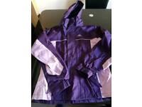 Girls Trespass waterproof jacket
