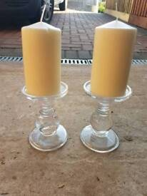 Candle holders and candles