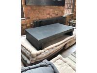 Concrete coffee table in dark grey W 130cm Graphite