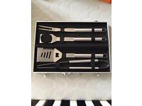 BBQ tool set and case