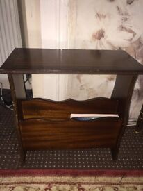 Small Side Table Dark Brown - Moving Abroad Hence Low Price