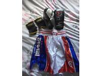 Boxing gloves shorts wraps