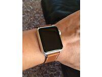 Apple Watch Hermès Strap - 38mm Fauve Barenia Single Tour Band