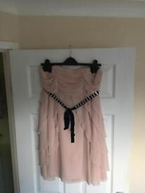 Pretty Pink strapless dress size 12