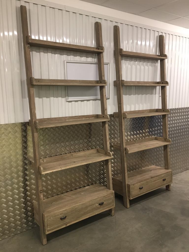 Pair Large Loaf Ladder Shelving Units Bookcase With Drawer Laura Ashley Habitat John Lewis Oka Raft In Sutton London Gumtree