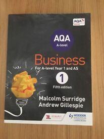AQA Business Textbook by Malcom Surridge