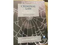 CRIMINAL LAW Text, Cases, AND material by Jonathan Herring (OXFORD)
