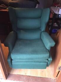 Reclining wing back chair / must collect today!