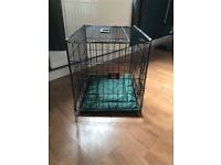 XS Mikki dog crate with mat never used