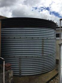 Extra Large Commercial Galvanised Steel Water Tank Storage Irrigation Crop Watering + pum