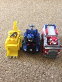 Paw patrol figures plus vehicles
