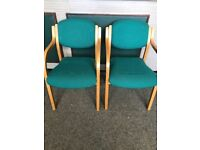 Pair of reception green chairs