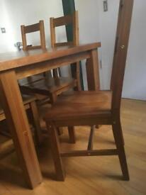 Dining Table and 6 Chairs solid wood