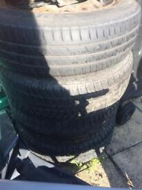 4 tyres and a spare off Peugeot 206