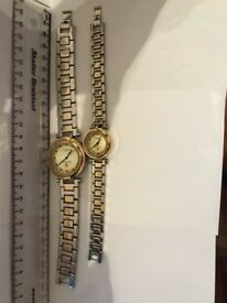 Swiss Hills Two Tone His and Hers Matching Watches - VGC - Offers