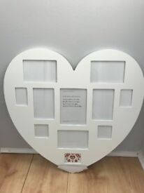 Debenhams Heart Shaped Multi Photo Frame
