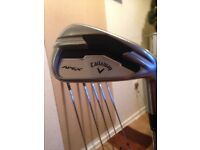 Callaway apex irons in good used condition.