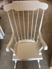 Shabby chic cream rocking chair