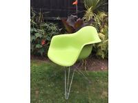 Eames Eiffel style grass green plastic chair