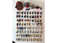 Large Lego Minifigures collection all Star Wars & Super Heroes & 3 Rock Monsters
