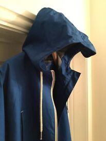 Men's blue hooded jacket / anorak XL never worn £20