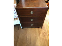 Chest of drawers , with original handles feel free to view Size L 23 in D 18 in H 26 in