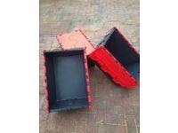 tote/ storage boxes