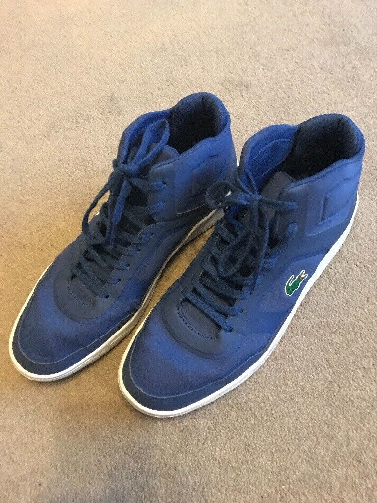 Pair of mid blue Lacoste boot type shoes - size 9
