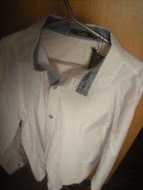 "Mens Shirt , Men's Long Sleeve Work Casual Formal "" Slim fit "" 16c 42-44 XL"