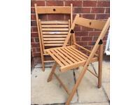 2 ikea TERJE folding chairs